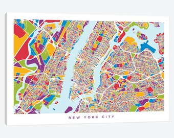 new york city map new york city street map new york city pop art