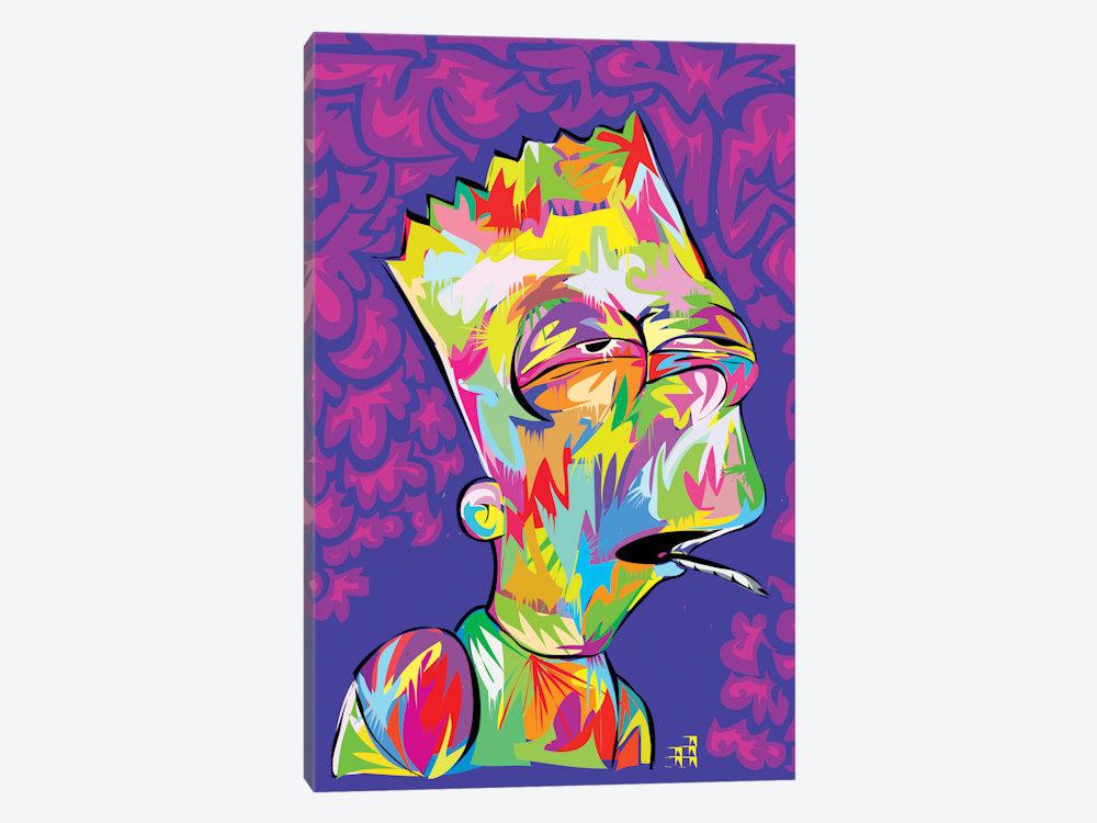 Bart Simpson Art Bart Simpson Wall Art Bart\'s High Bart | Etsy