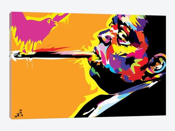 6878ea3d32 Notorious BIG Art Print Biggie Smalls Canvas Wall Art