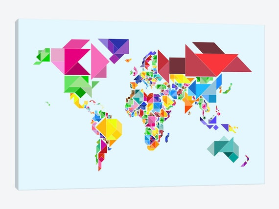 World map art world map canvas map of the world kids world gumiabroncs Images