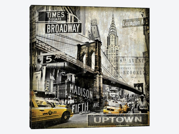 NYC NEW YORK CITY NEW A1 CANVAS GICLEE ART PRINT POSTER
