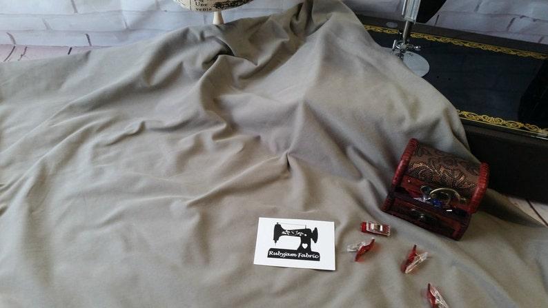303537507 Light Grey Solid Cotton Lycra Stretch Knit Fabric