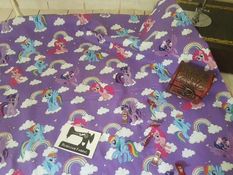 3f790c7f53b Purple My Little Pony Cotton Lycra Stretch Knit | Etsy