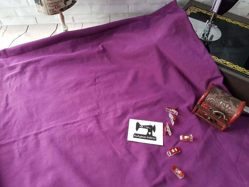 50cm WHITE Plain Solid cotton lycra fabric 4 way stretch knit fabric 185cm wide