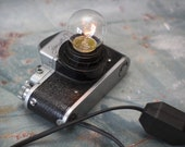 Camera lamp. ZENIT camera lamp. Edison lamp. Camera light. Mid century style gift