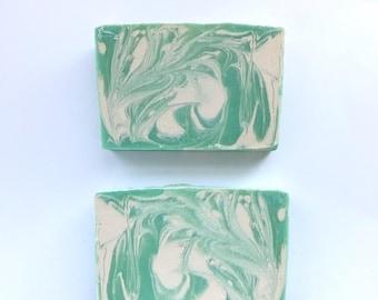 Green Apple Soap• Vegan Soap, Handmade Soap, Cold Process Soap, Gift, Green, Kids gift, Gift for her, Apple soap, Vegan Soap, Fun Soap