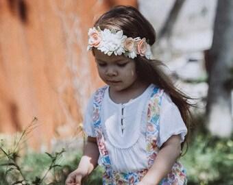 Boho Baby Flower Crown, Boho Flower Crown, Festival Headband, Flower Crown, Flower Girl Headband, Flower Girl Crown