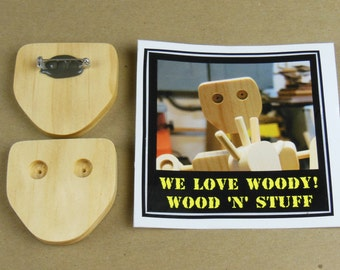 Woody The Shop Bot Pin (1): INCLUDES 1 FREE STICKER!