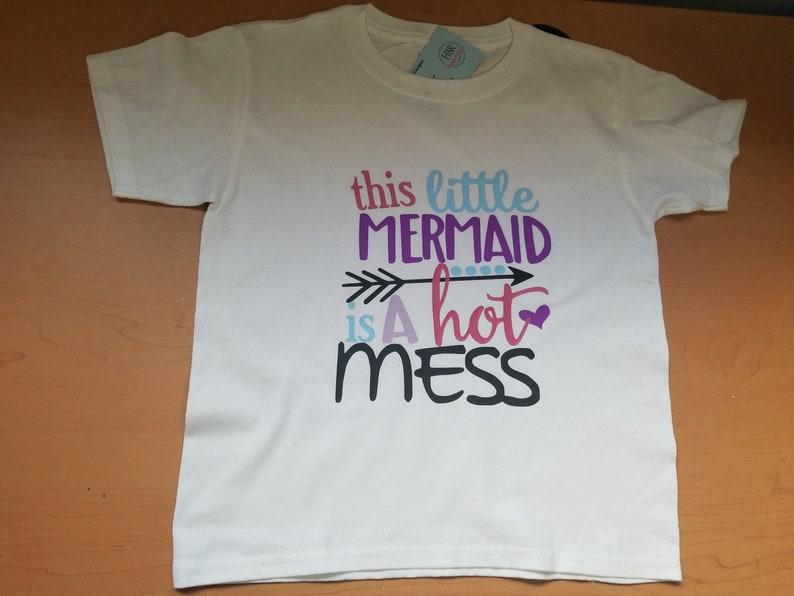 958207e462520e Meerjungfrau Shirt Kleinkind Mädchen Shirt süße Mädchen   Etsy
