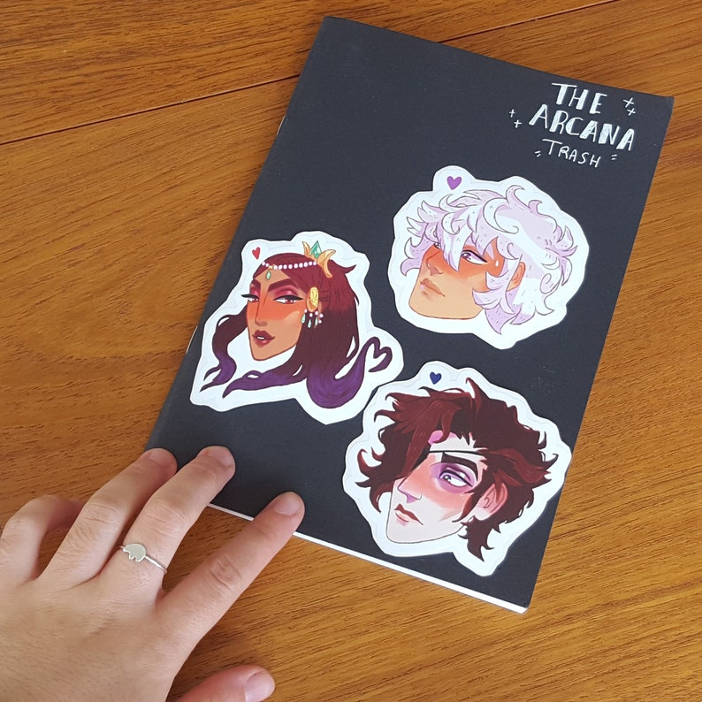 The Arcana Game Stickers /Nix Hydra/Otome/Dating Sim/Julian  Devorak/Nadia/Asra