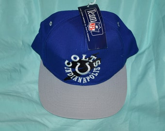 cf3dc8080c3a0 VINTAGE mid 90 s Indianapolis Colts snapback hat cap drew pearson headwear  NWT