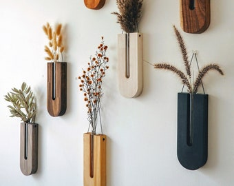 Wall decor / Propagation station / wooden vase/ Wall planter indoor / Hanging planter/ Gifts for her/ Gifts for plant lovers