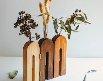 Wooden vase / Wooden vessel / Home decor / Propagation stations / Gift for her / Handmade vase / Flower vase/ Decorative item