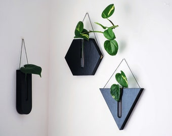 Wall decor / Propagation station / Hanging planter / Wood vase / Decor / Wall planter / Gifts for her / Gifts for friend
