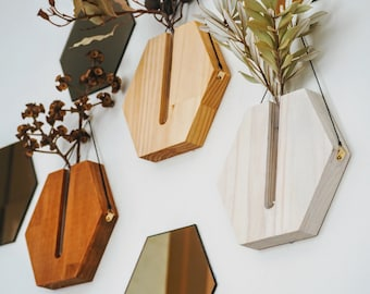 Propagation station / wall planter indoor / timber vase / wall decor / timber decor / handcrafted goods/ Hanging planter