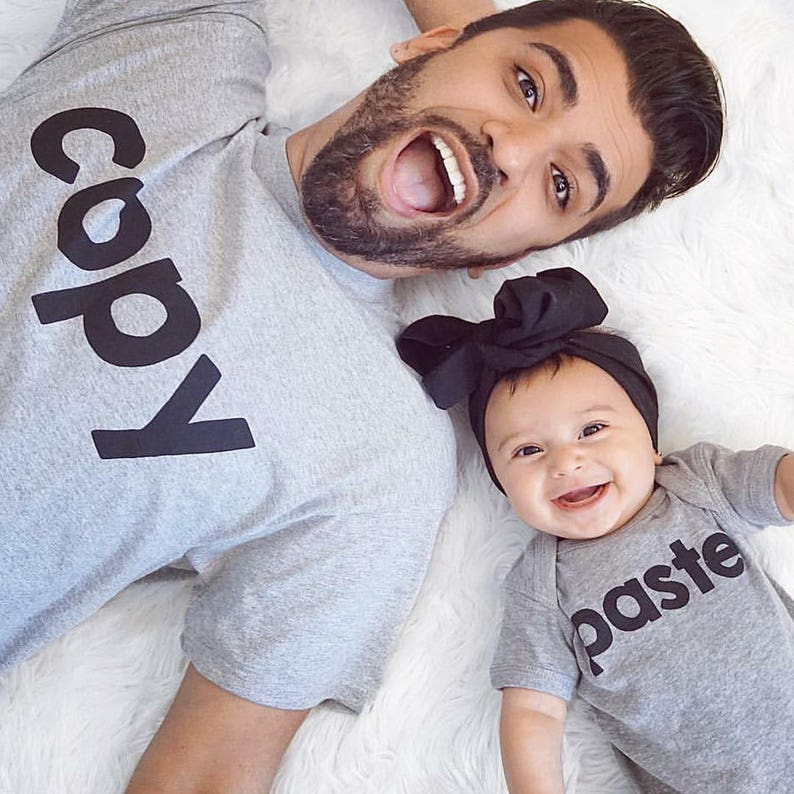Copy Paste Matching Family Shirts Set Adult Shirt   Baby  40087a47d