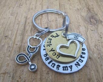 Keychain for nurse, Nurse keychain, Gift for Nurse. LPN keychain, RN keychain, Nurse charm. Nurse gift, Thank you gift for nurse