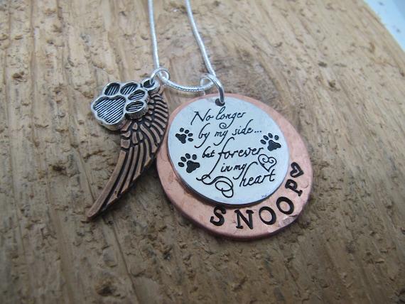 sympathy card Cat loss gift necklace pet memorial