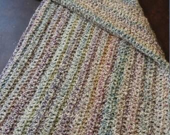 Multi Colored Throw/lap Blanket