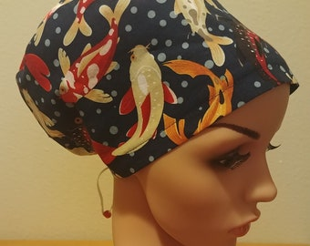 Beautiful Metallic Dragon Flies on the Pond Bouffant Style surgical hat