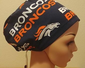 0bb68453d Broncos scrub hat   Etsy
