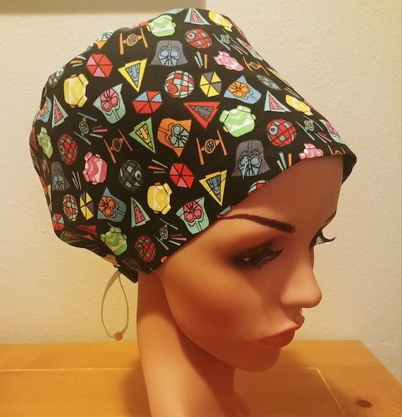 Women's Surgical Cap, Scrub Hat, Chemo Cap,   Star Wars Icons