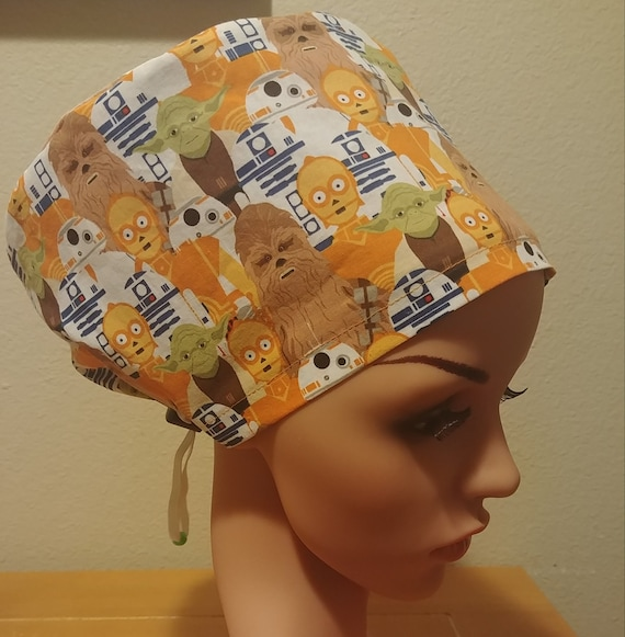 Women's Surgical Cap, Scrub Hat, Chemo Cap,  Star Wars Characters