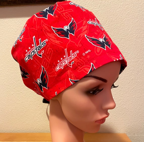 Women's Surgical Cap, Scrub Hat, Chemo Cap, Washington Capitals