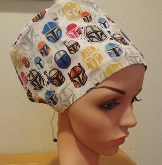 Women's Surgical Cap, Scrub Hat, Chemo Cap,  Mandalorian Helmets