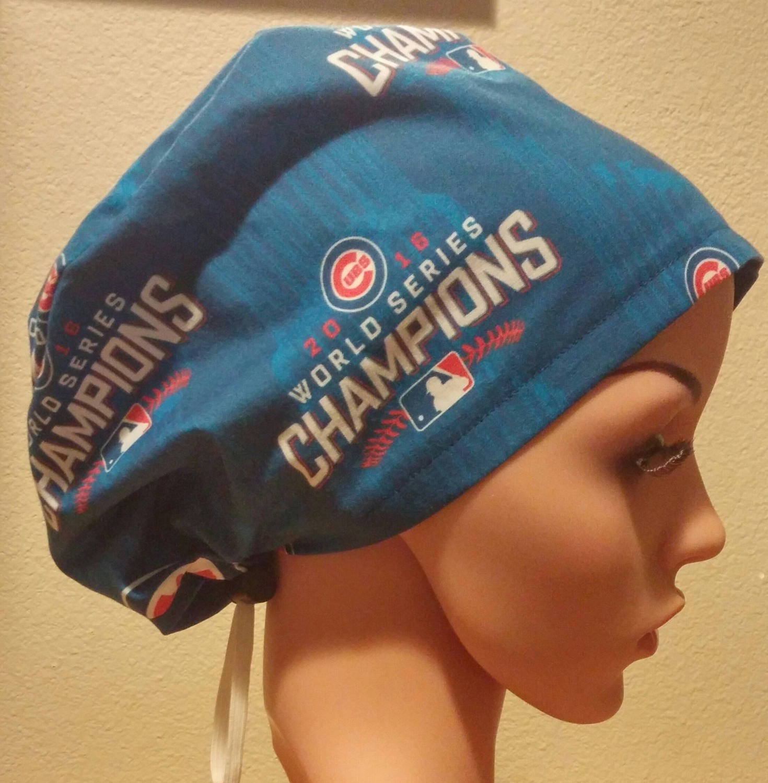 6c6ff834b6e Women s Surgical Cap Scrub Hat Chemo Cap Chicago Cubs