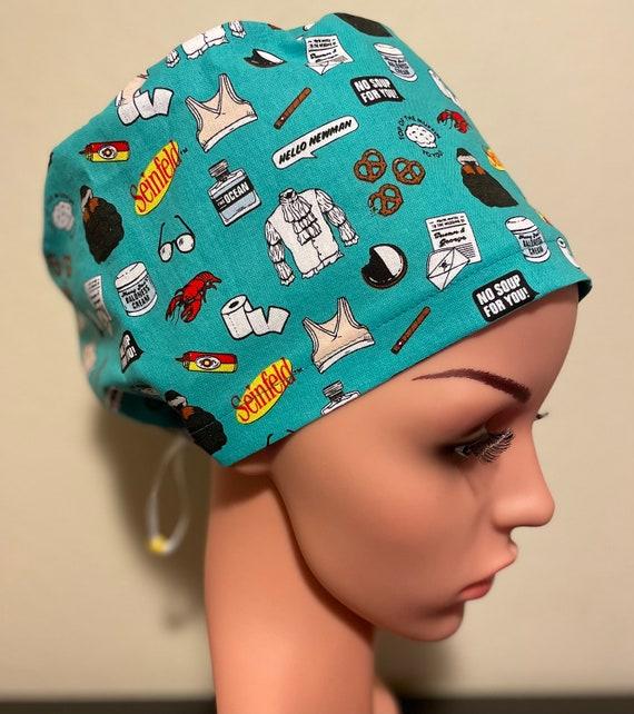 Women's Surgical Cap, Scrub Hat, Chemo Cap, Seinfeld Memorable Moments