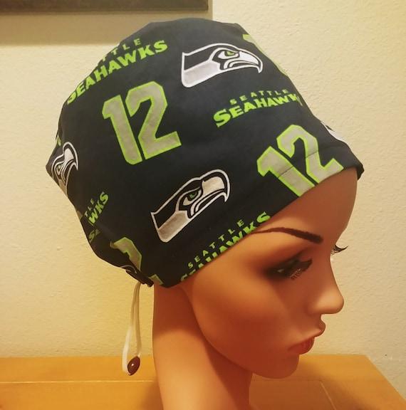 Women's Surgical Cap, Scrub Hat, Chemo Cap, NFL Seattle Seahawks 12