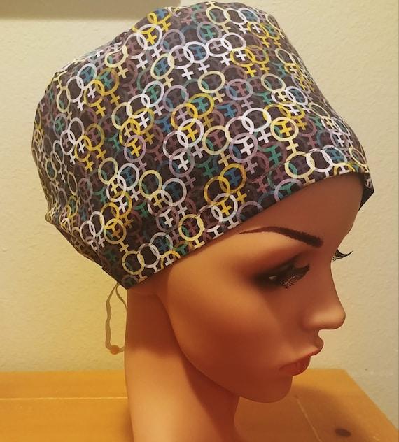Women's Surgical Cap, Scrub Hat, Chemo Cap, Power of Women