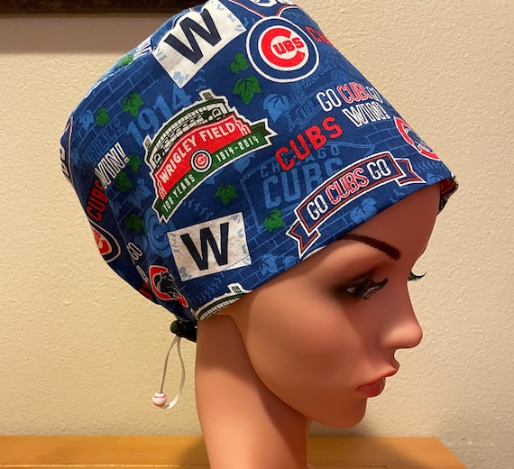 Women's Surgical Cap, Scrub Hat, Chemo Cap, Chicago Cubs