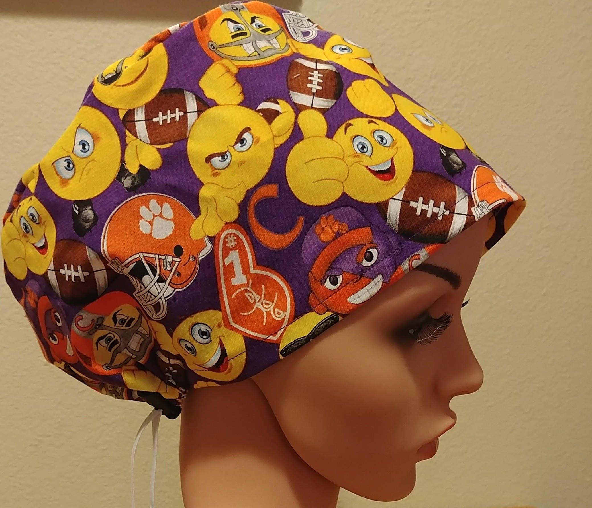 8776b2f26a8 ... italy womens surgical cap scrub hat chemo cap clemson university emoji  e5c81 0703b