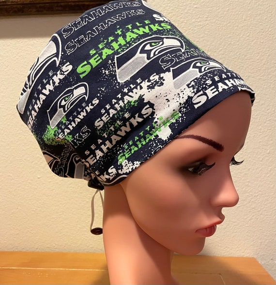Women's Surgical Cap, Scrub Hat, Chemo Cap, NFL Seattle Seahawks