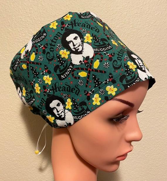 Women's Surgical Cap, Scrub Hat, Chemo Cap,  Cotton Headed Ninny Muggins