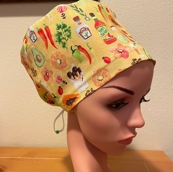 Women's Surgical Cap, Scrub Hat, Chemo Cap, Taco Tuesdays