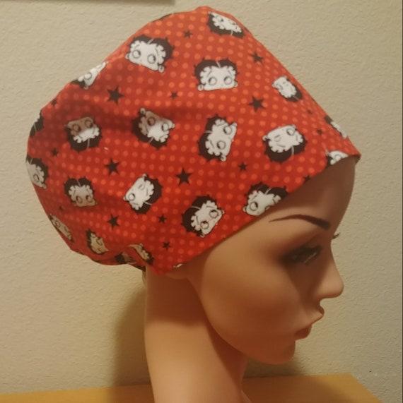 Women's Surgical Cap, Scrub Hat, Chemo Cap,  Betty Boop