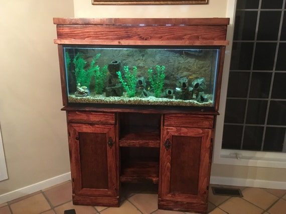 Fish Tank Stand/Hutch Aquarium Stand Entertainment Stand | Etsy