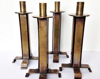 Set of 4 midcentury brutalist Candle Holders