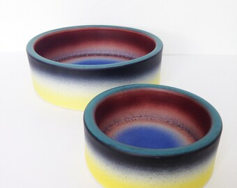 Two Midcentury Pottery Bowls