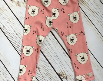Baby girl leggings- Polar plunge pink
