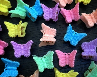 90's Butterfly Clips, 90's Hair Clips, 90's Accessories, Butterfly Clips, 90s Vintage, Soft Grunge, Pastel Grunge, Pastel Goth, Kawaii