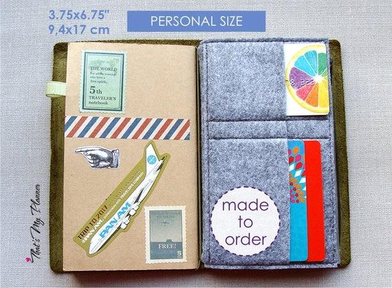 Quaderno del viaggiatore inserire dimensioni personali etsy
