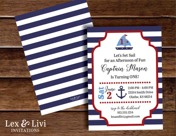 Nautical Birthday Invitation First