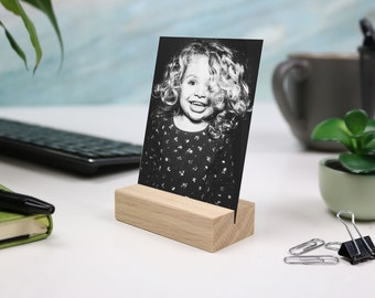 NATURAL Wood Photo holder wood photo stand.