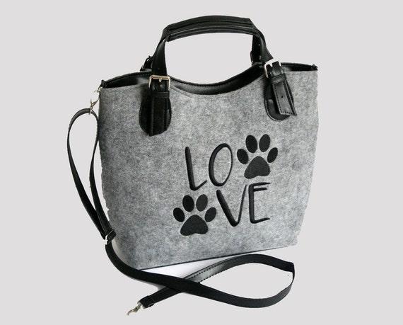 988d01a1f5 Chien sac en feutre chien de sac à main sac à main pour ceux | Etsy