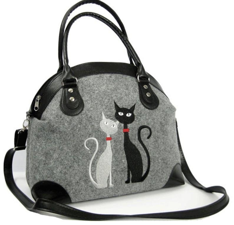 a95c9992e6 BORSA con gatti borsa donna borsa di feltro gatto femminile | Etsy