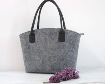 Felt bag, Felt tote bag, Elegant and Casual, Felt Bag, Tote Shoulder Bag, Shopping, Bag Handbag